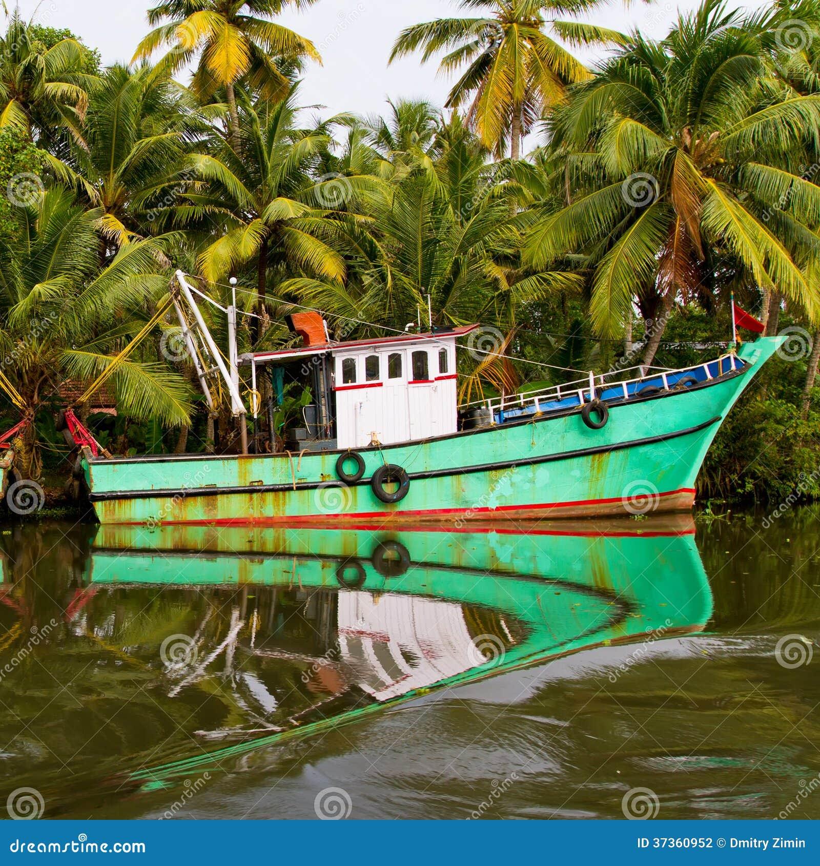 Indian Fishing Boat Beautiful Reflection Water Famous Backwaters Kerala Kochi Kerala India 37360952 Jpg 1300 1390 With Images Kerala India Fishing Boats Kochi