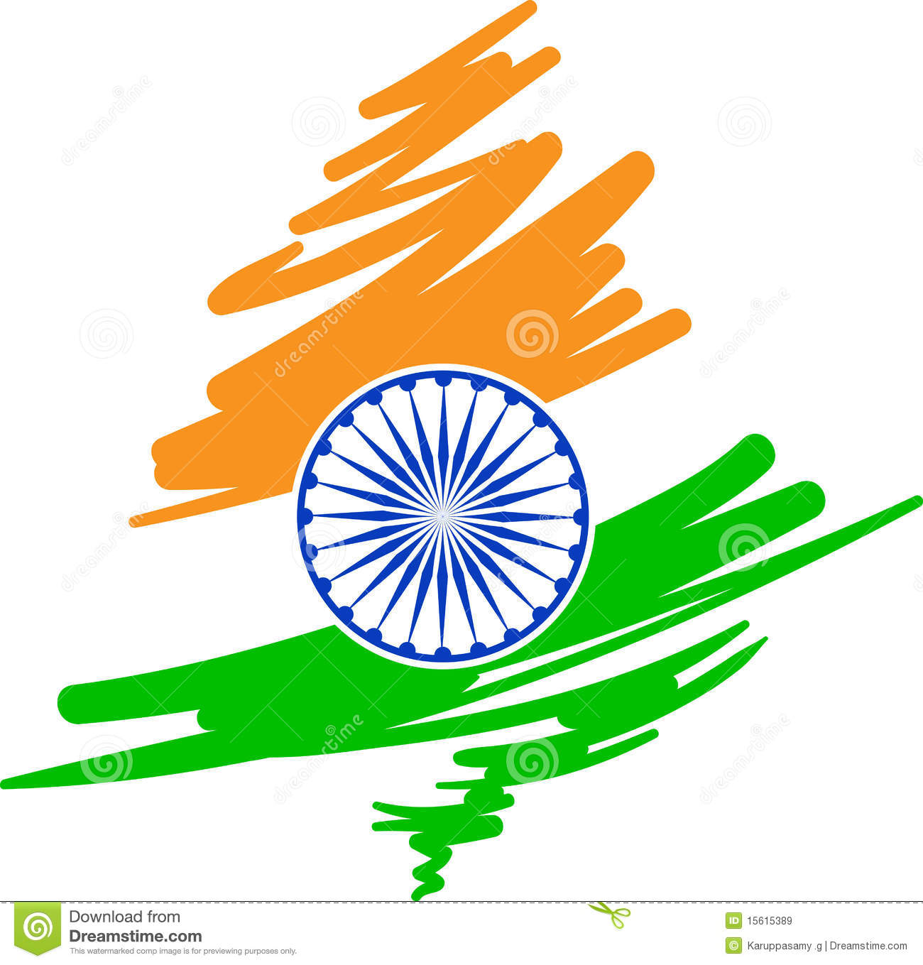 indian flag design vector illustration © Pinnacle Animates ...