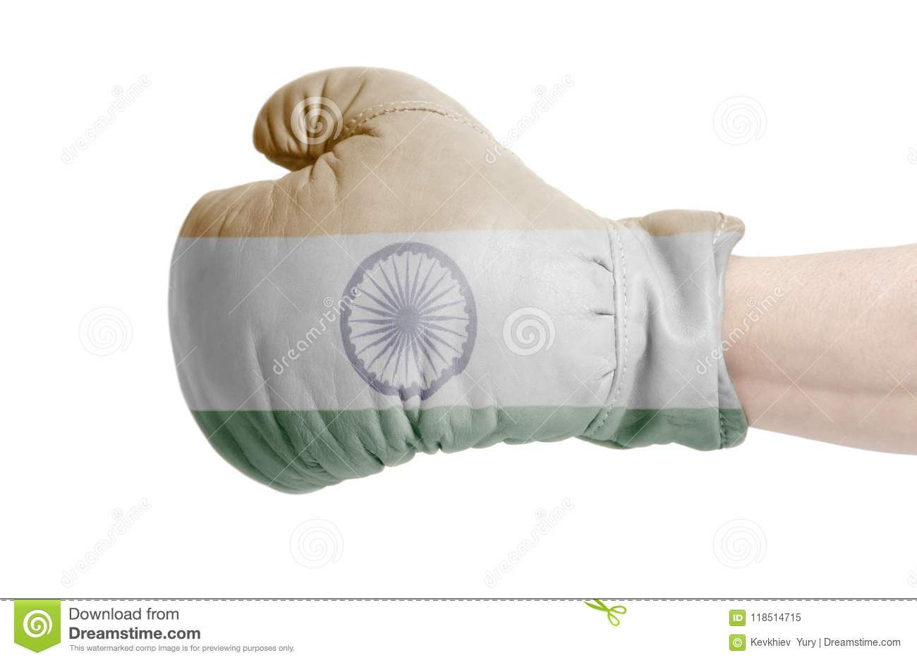 Indian flag on boxing glove