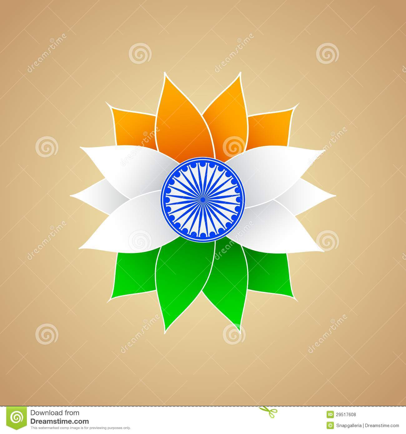 indian flag color flower stock vector illustration of artistic