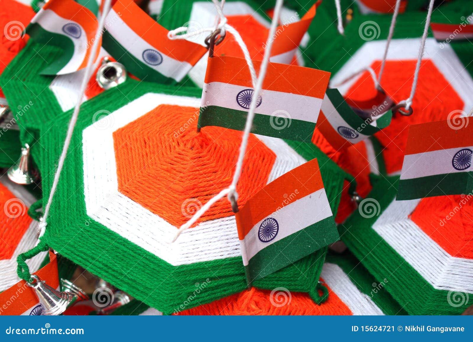 Indian Flag Theme: Indian Flag Decorations Stock Image
