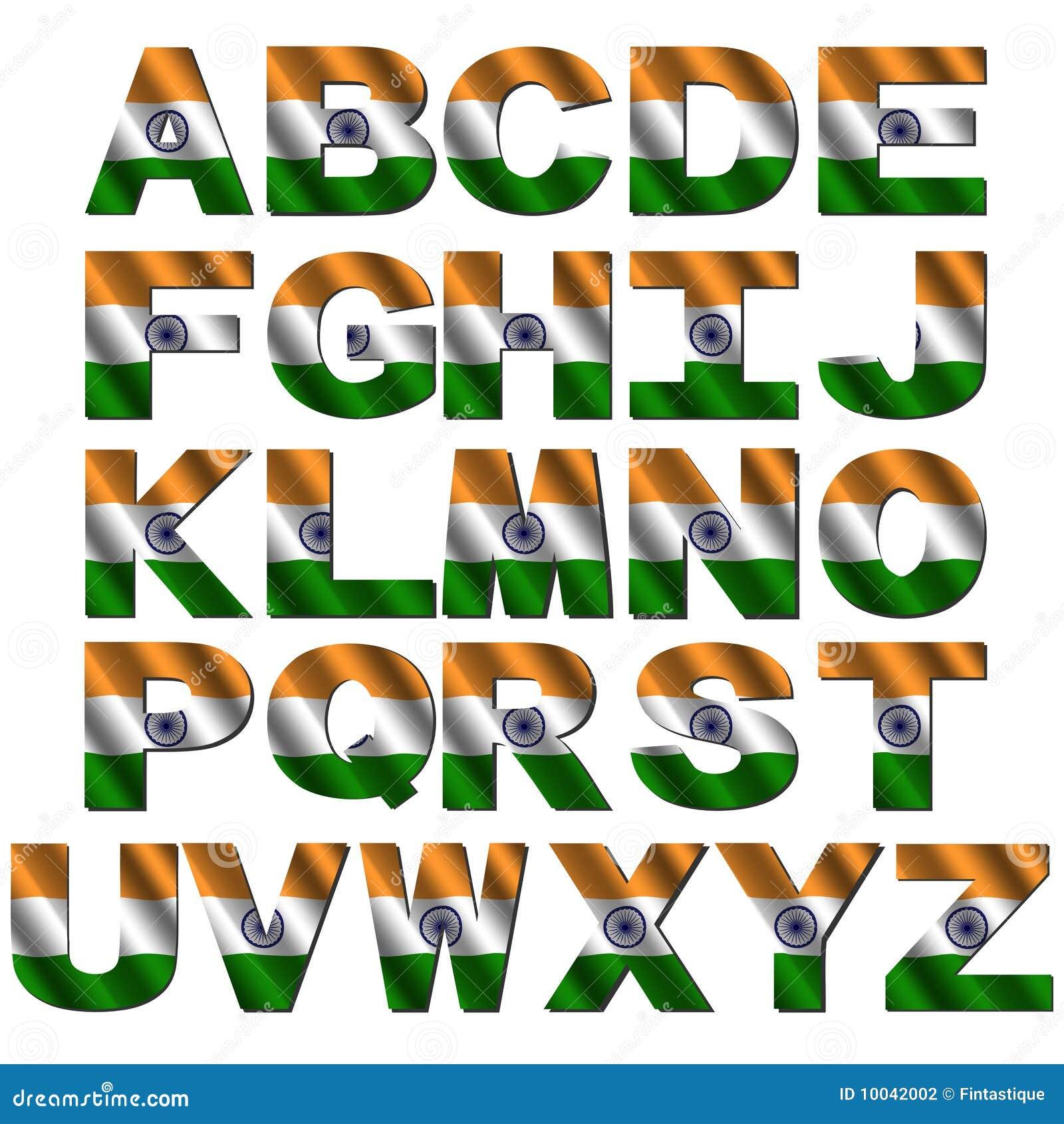 Indian Flag Font