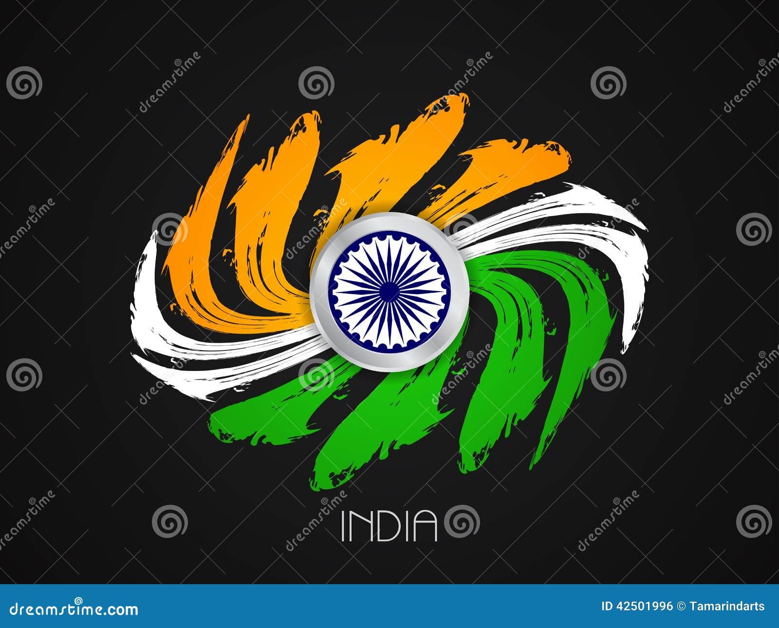 Indian Flag Theme: Indian Flag Theme Design Stock Vector. Illustration Of