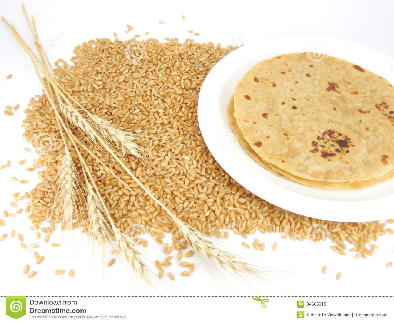 Indian Flat Bread Stock Image Image Of Vegetarian