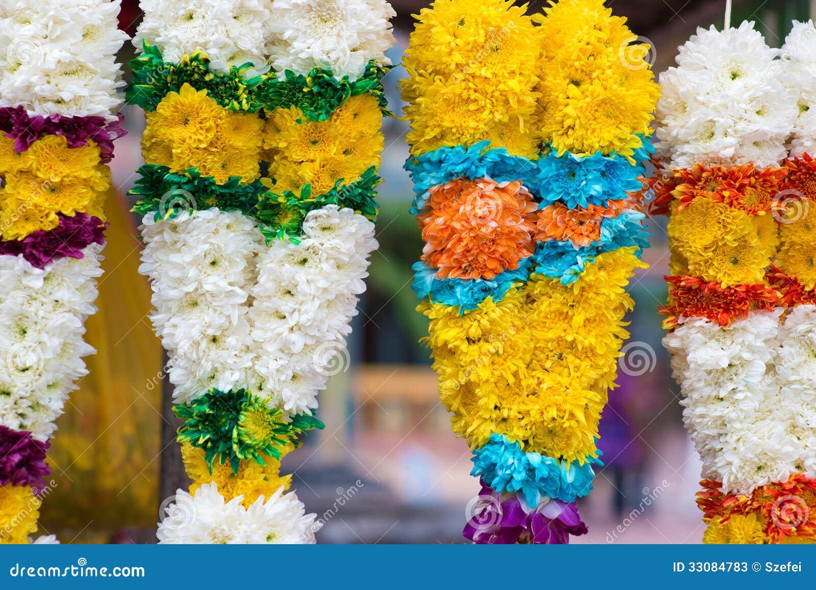 indian flower garlands stock image image of deepavali 33084783. Black Bedroom Furniture Sets. Home Design Ideas