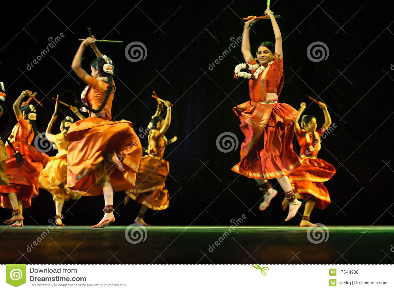 Indian Folk Dancers Dance Lady