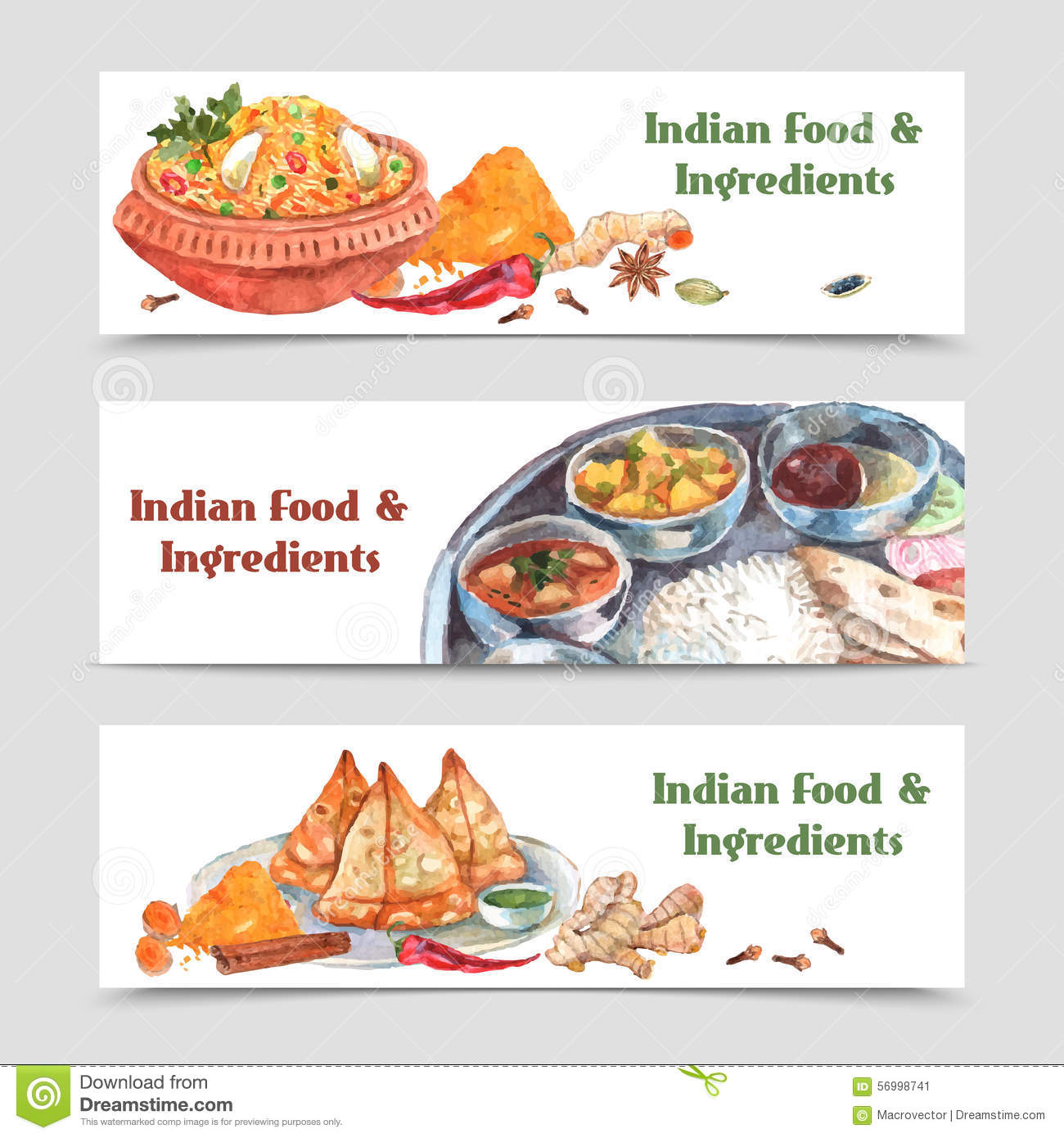 Indian Food Spices Hot