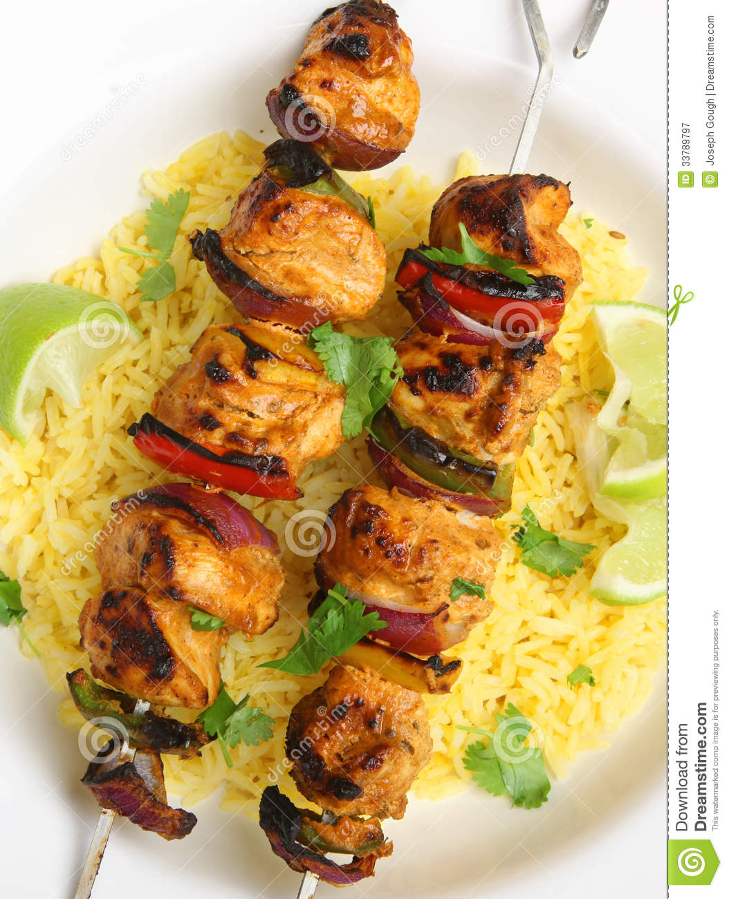 Indian Food, Chicken Tikka Kebabs Stock Image - Image ...