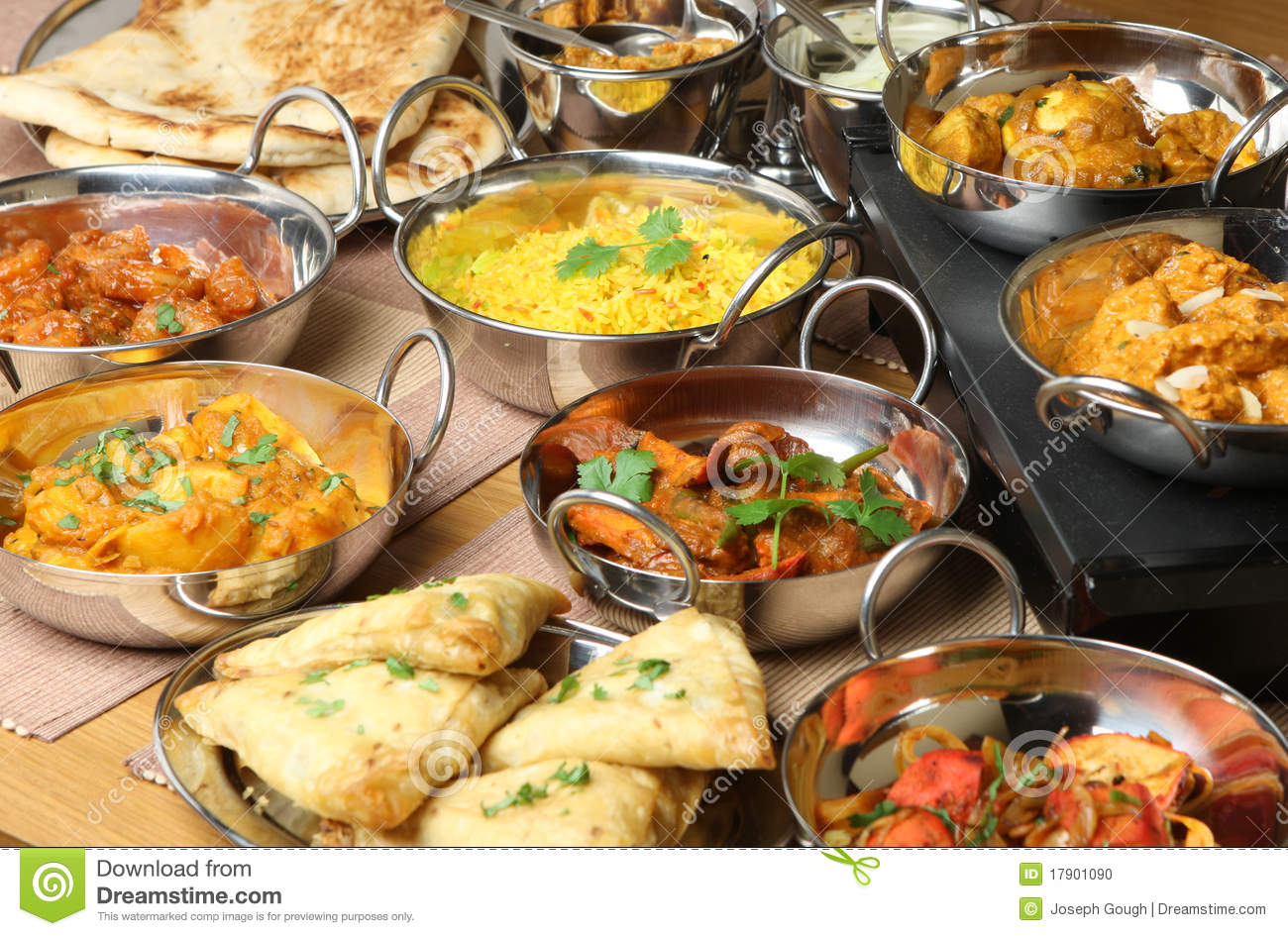 indian food curry meal dishes stock photo image 17901090. Black Bedroom Furniture Sets. Home Design Ideas