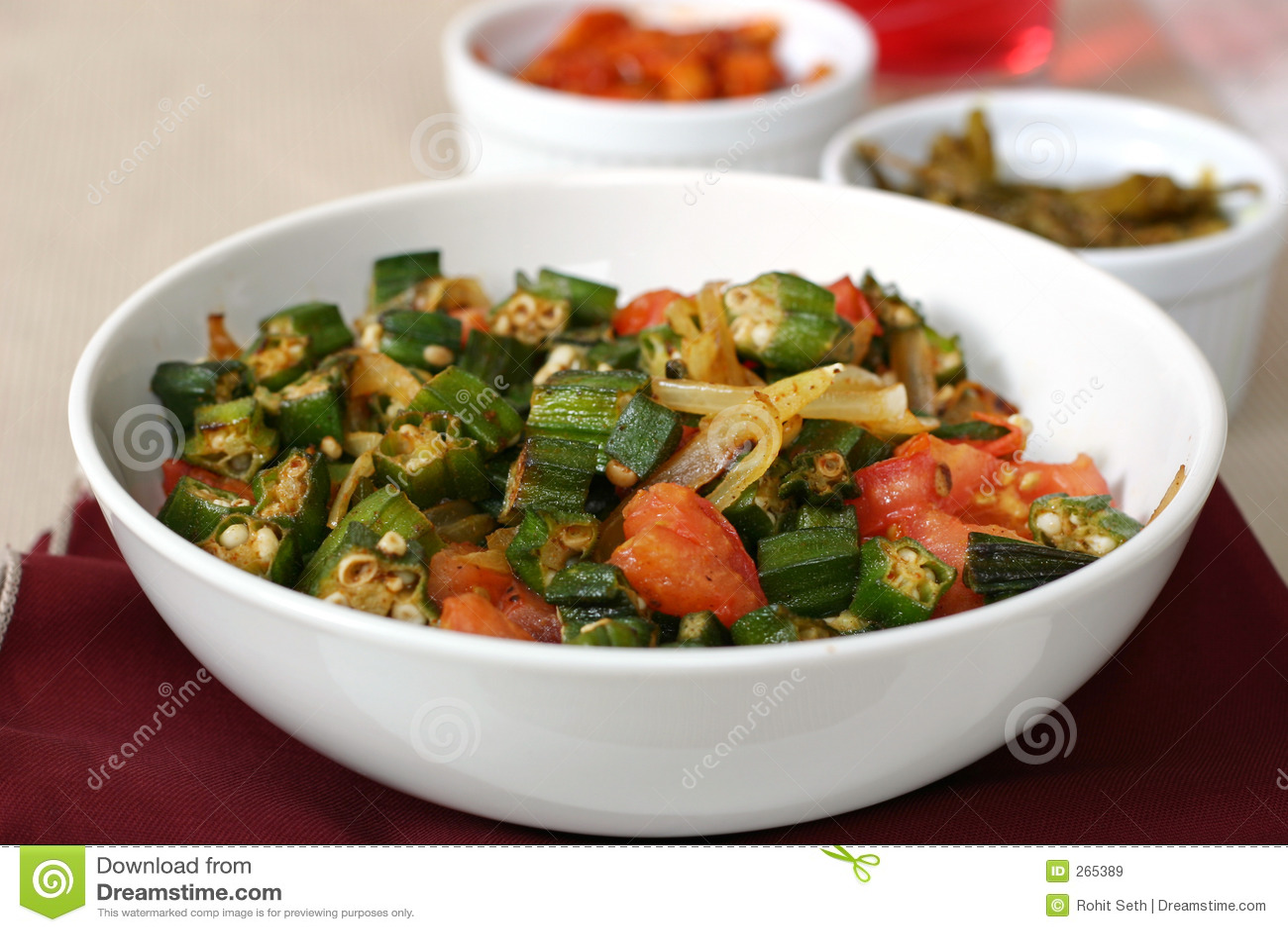 Indian Food Series Okra Dish Stock Image Image Of Dish Eastern