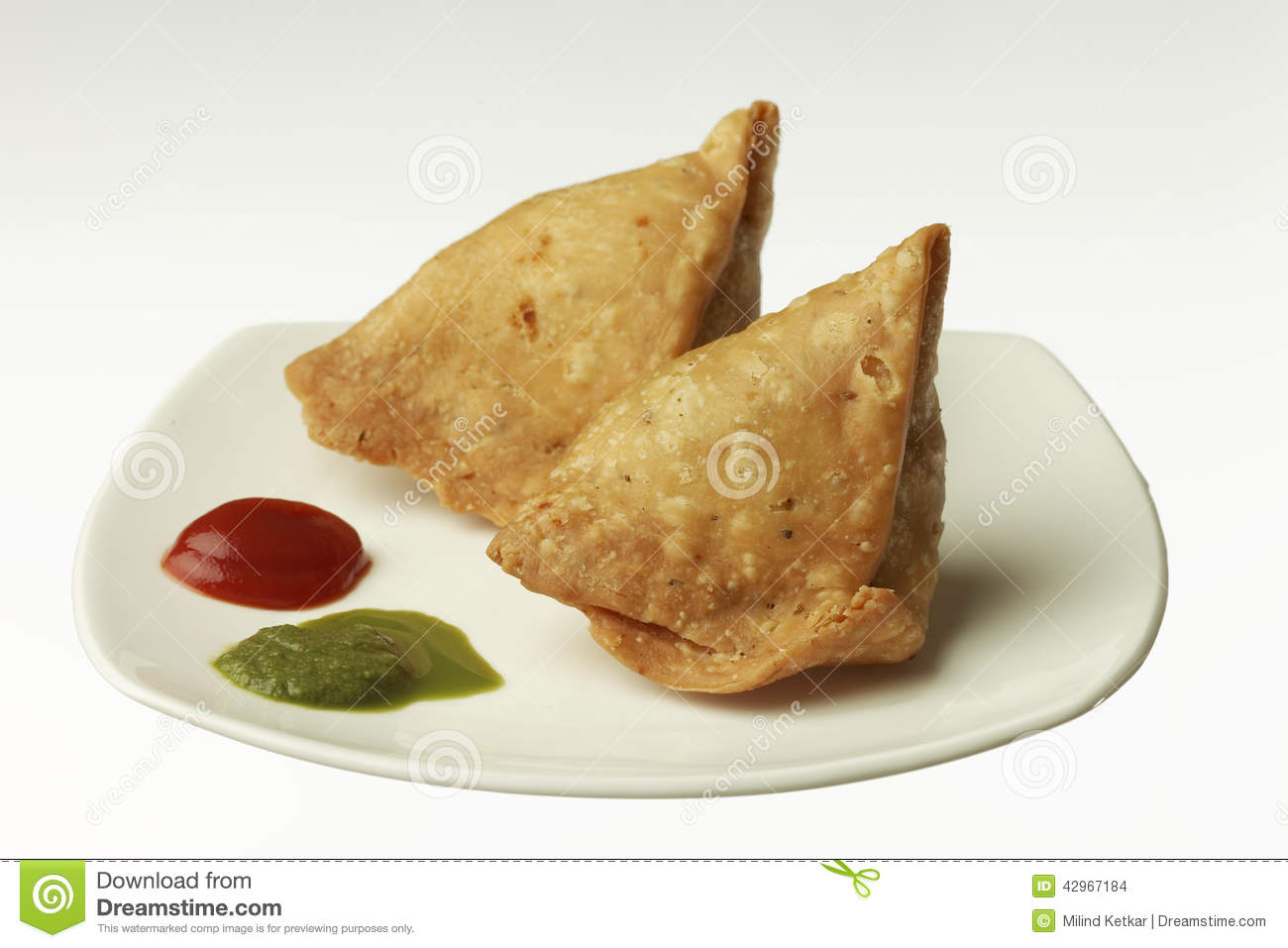 Stock Photo: Indian Food:traditional indian spicy crispy fried Punjabi ...