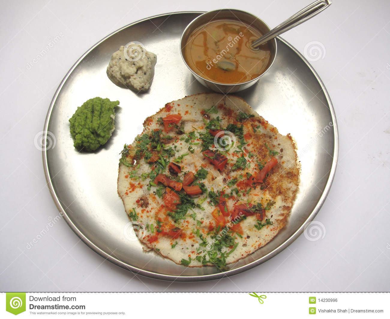 Indian food uttappam and sambhar stock photo image of for Asian indian cuisine