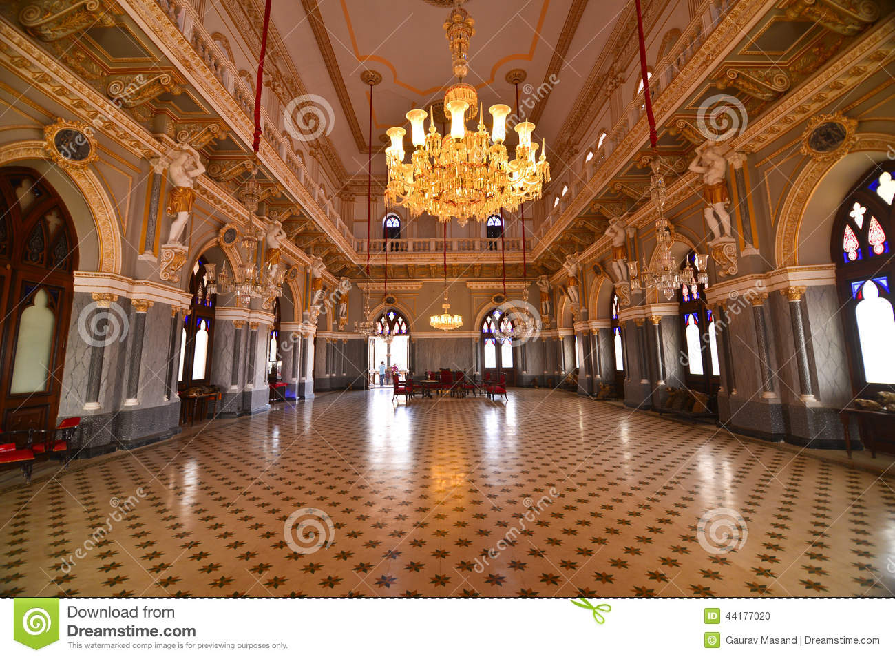 Indian Ball Room At A Palace Stock Photo Image Of