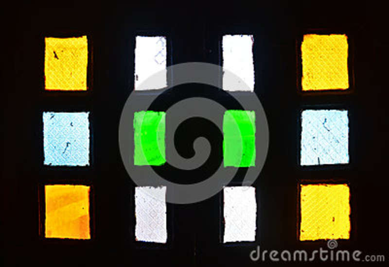 Indian fort window stained glass color