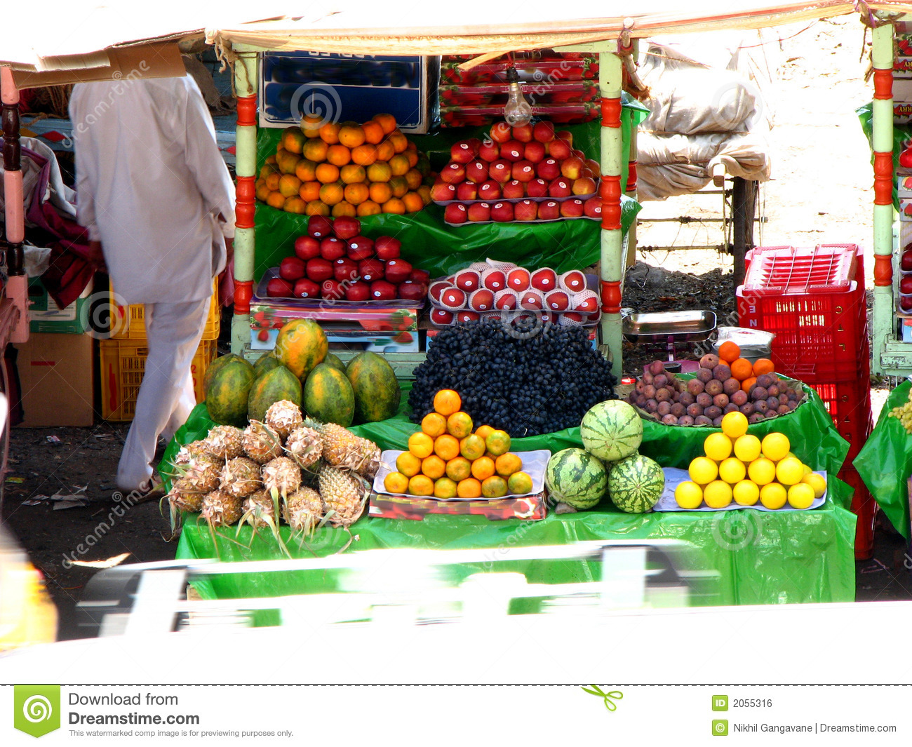 Royalty Free Stock Image  Indian Fruit StallIndian Market Stall