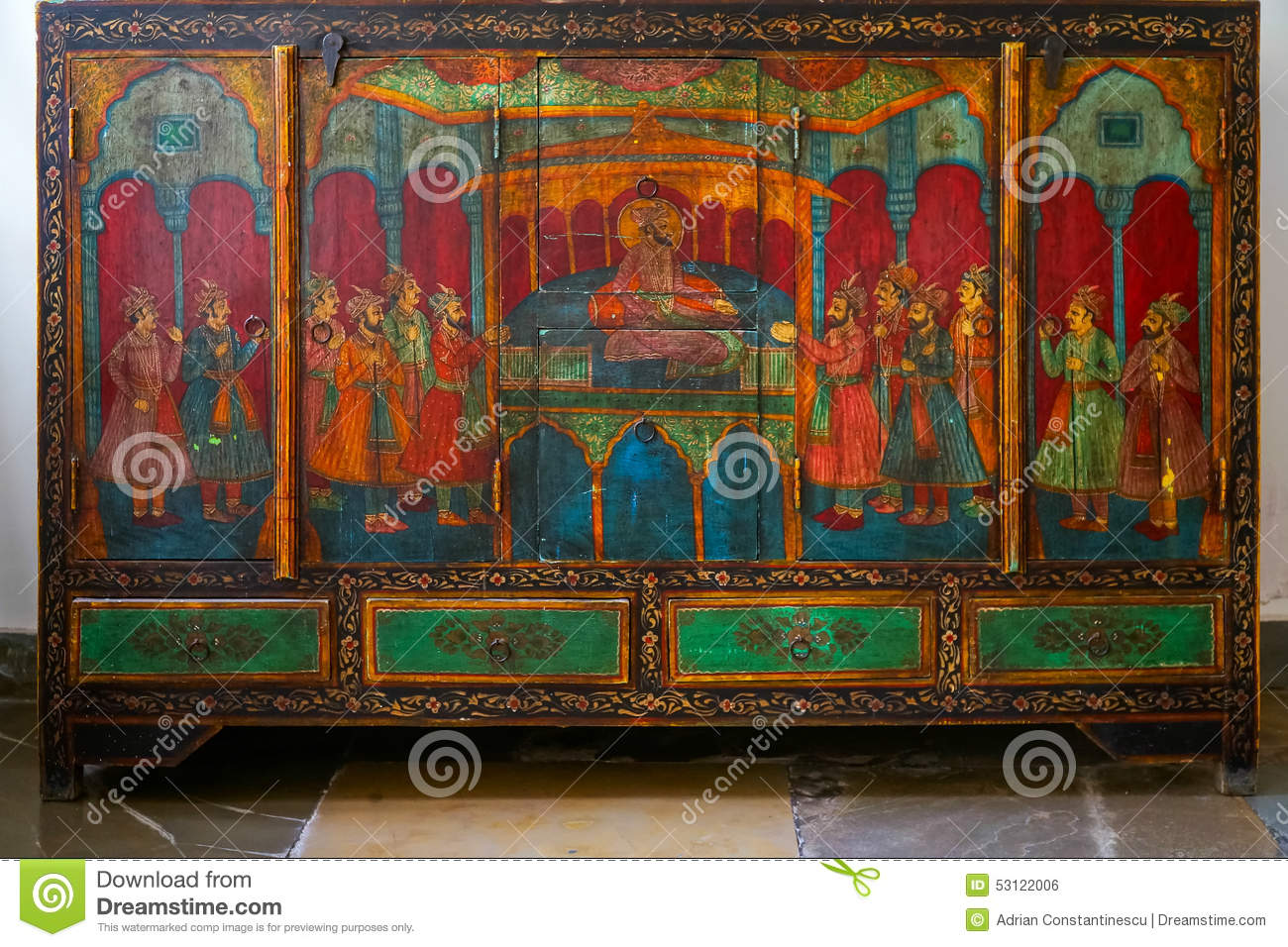 Indian furniture stock photo image of decoration for Le meuble villageois furniture