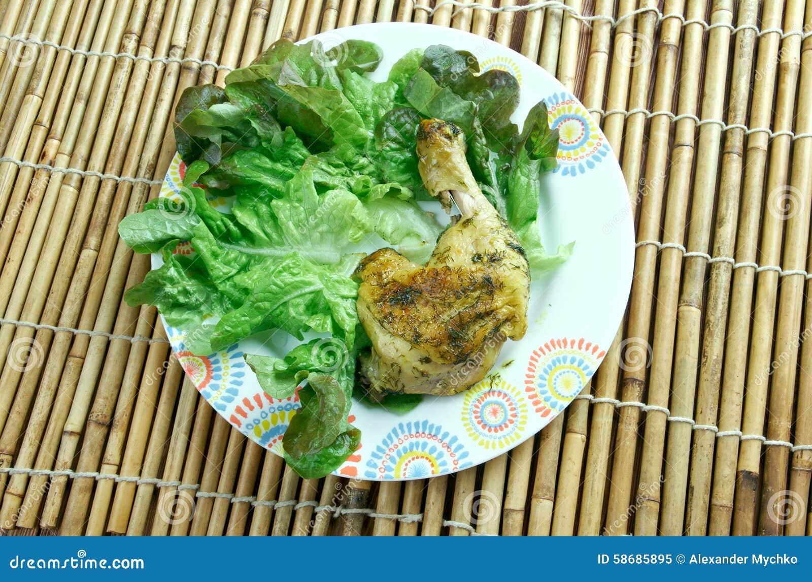 Indian Garlic Chicken Stock Photo - Image: 58685895