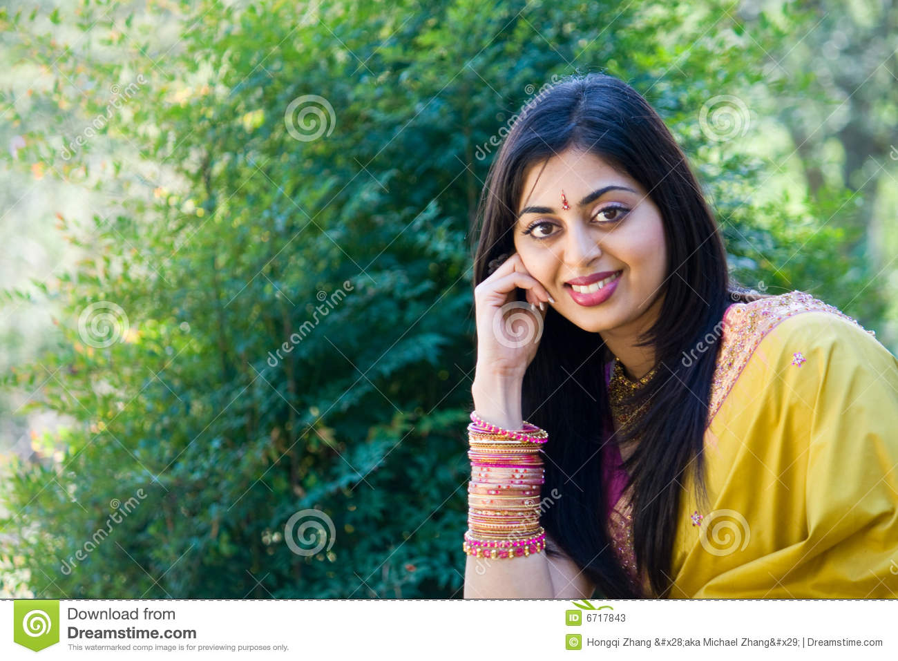 Indian Girl Stock Image Image Of Embroidery Expression 6717843