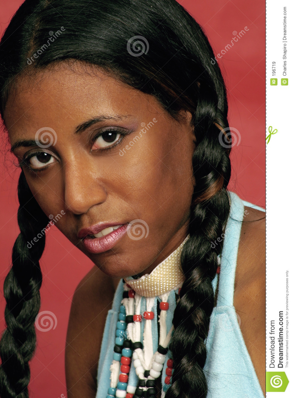 Indian Girl In Braids Stock Image Image Of Holiday