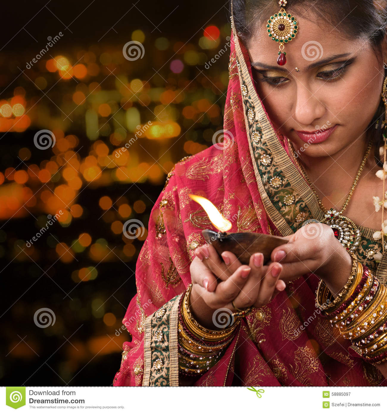 Indian Girl Hands Holding Diwali Oil Lamp Stock Image - Image of ... for Girl Holding Lamp  103wja