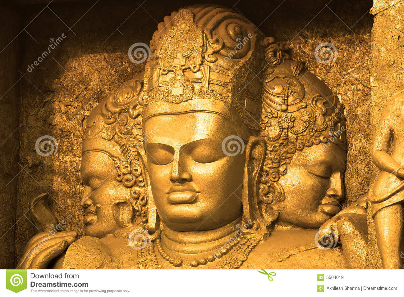 Indian God's Sculpture stock image. Image of ornamental ...