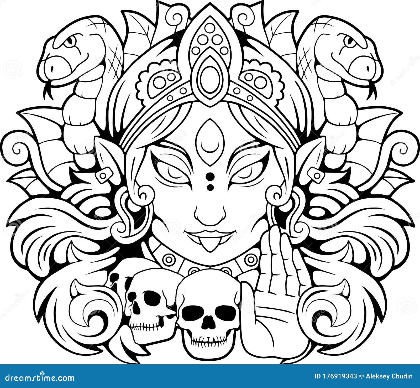 Goddess Kali Stock Illustrations 388 Goddess Kali Stock Illustrations Vectors Clipart Dreamstime