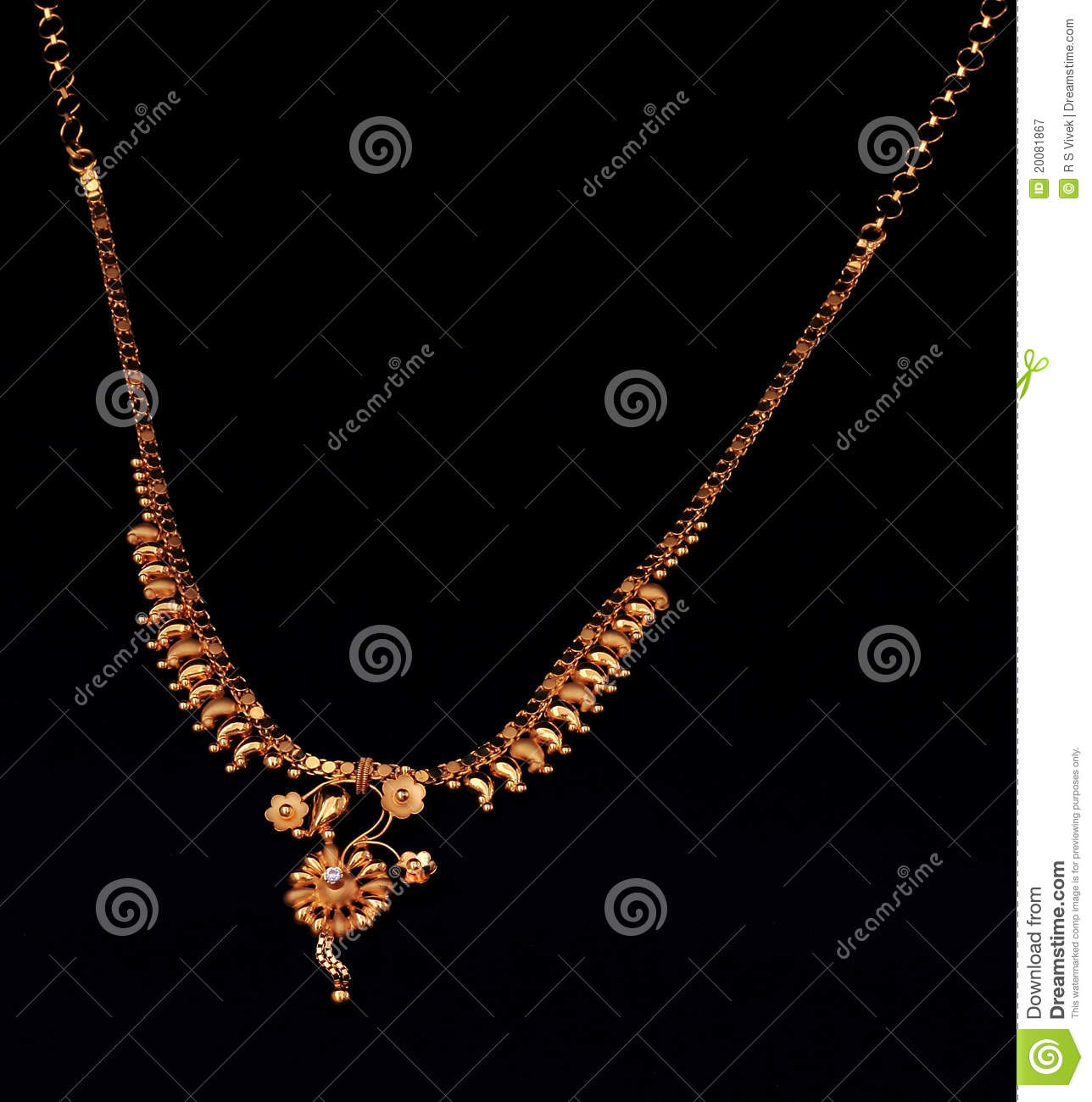 Indian Gold Necklace Stock Images - Download 1,902 Photos