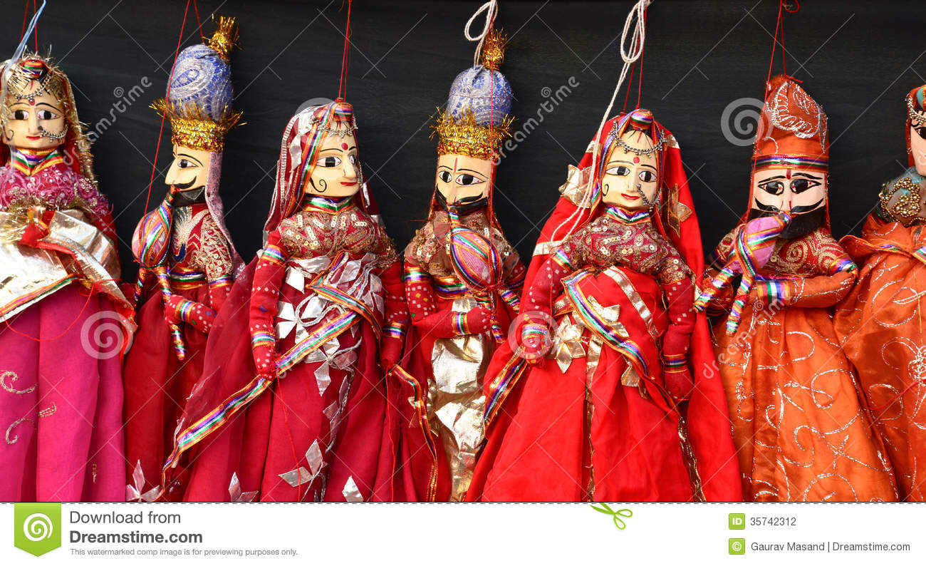 Indian Hand Made Puppets Stock Photography Image 35742312