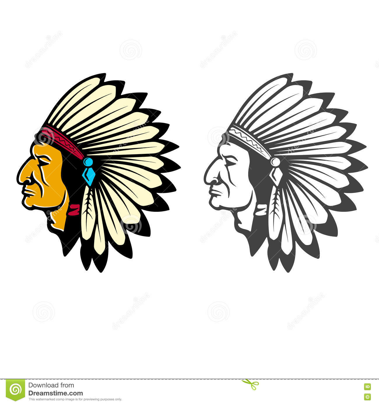Indian Head Concept Stock Vector Illustration Of Concept 77231402