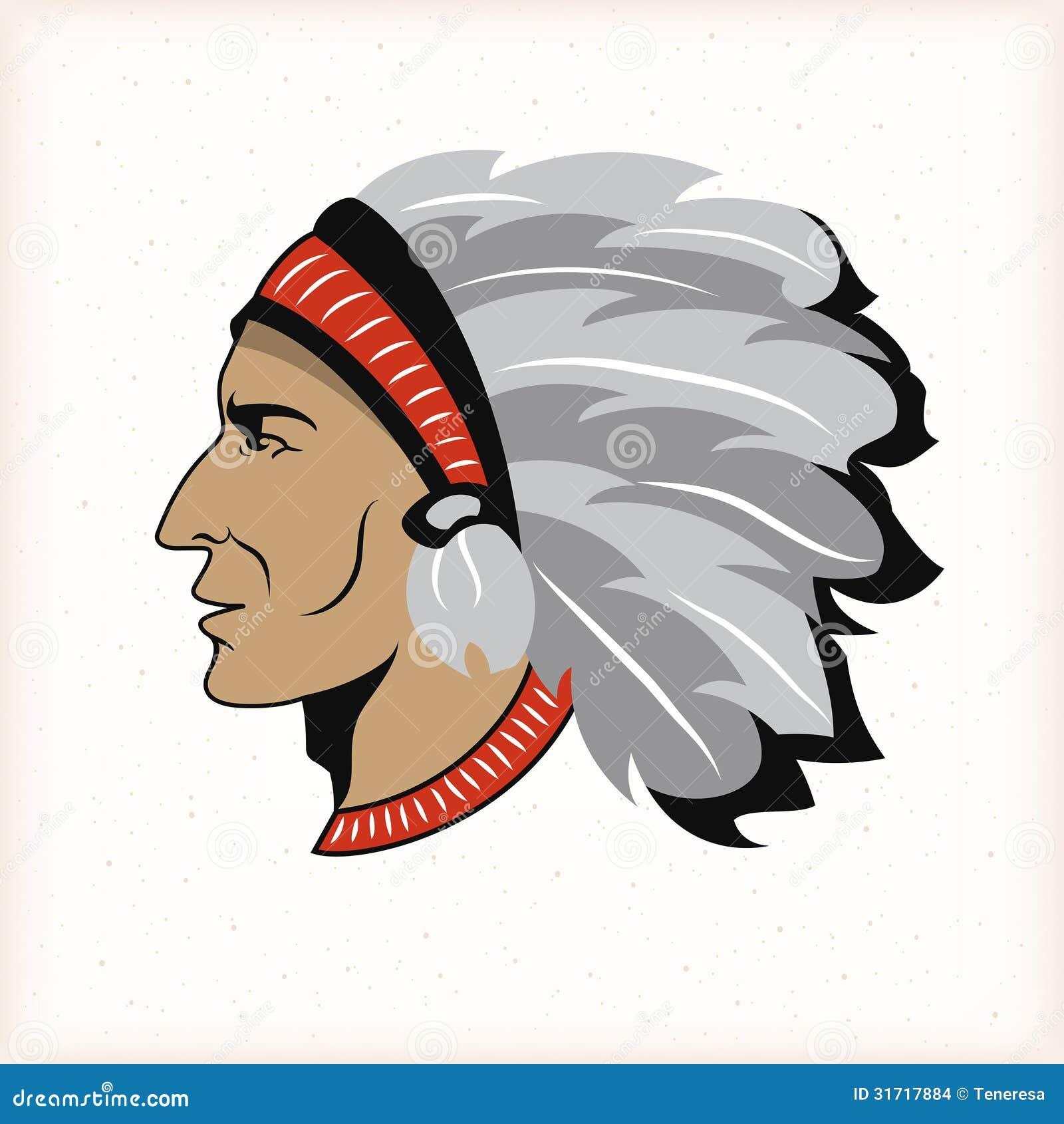 Indian Head Mascot Indian head mascot