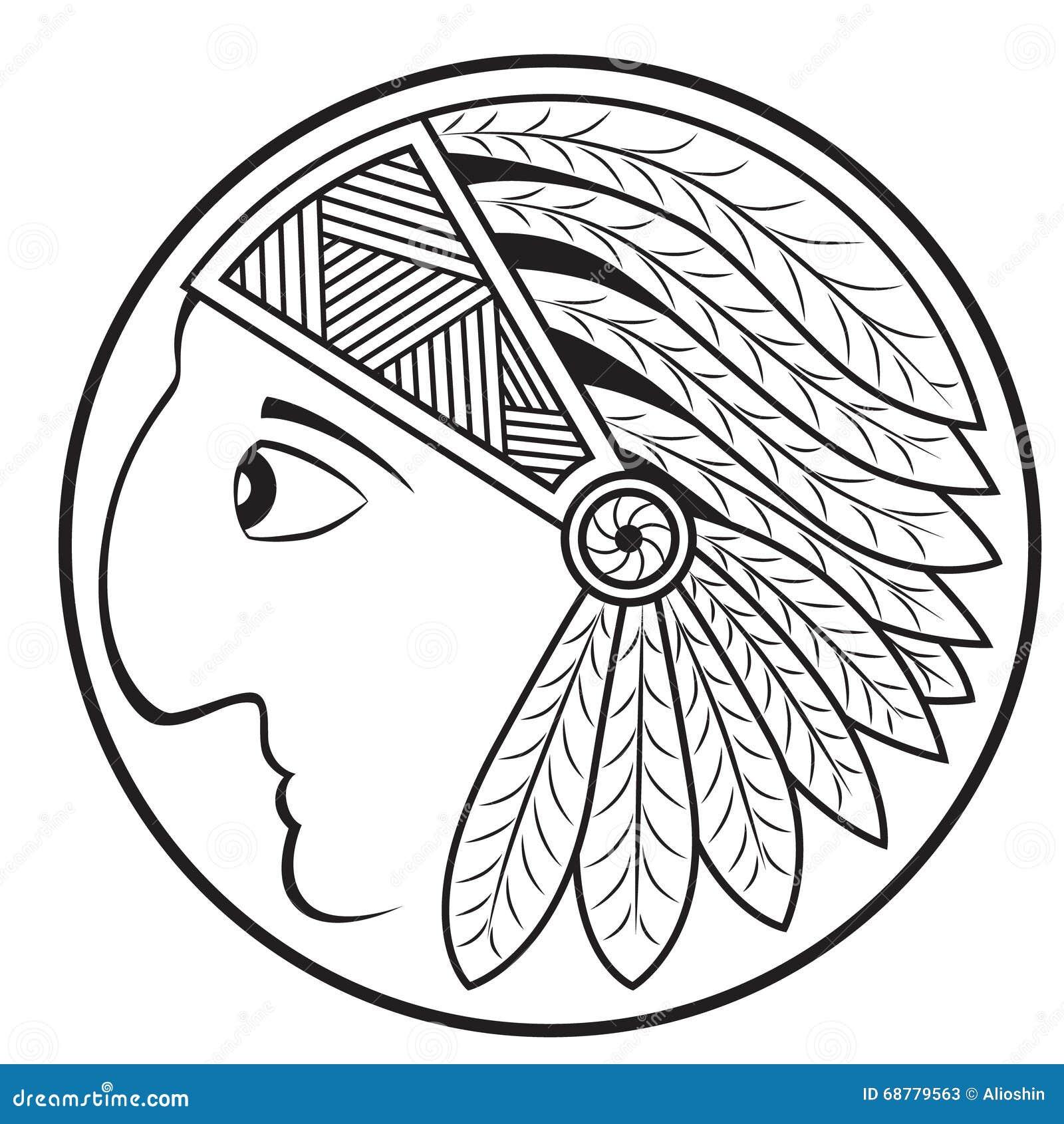 Apache head symbol vector stock vector illustration of tribal indian head profile vector image stock photos biocorpaavc