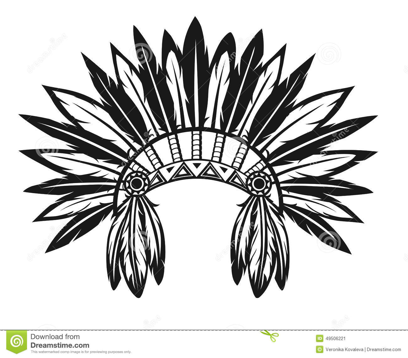 Indian Headdress Stock...