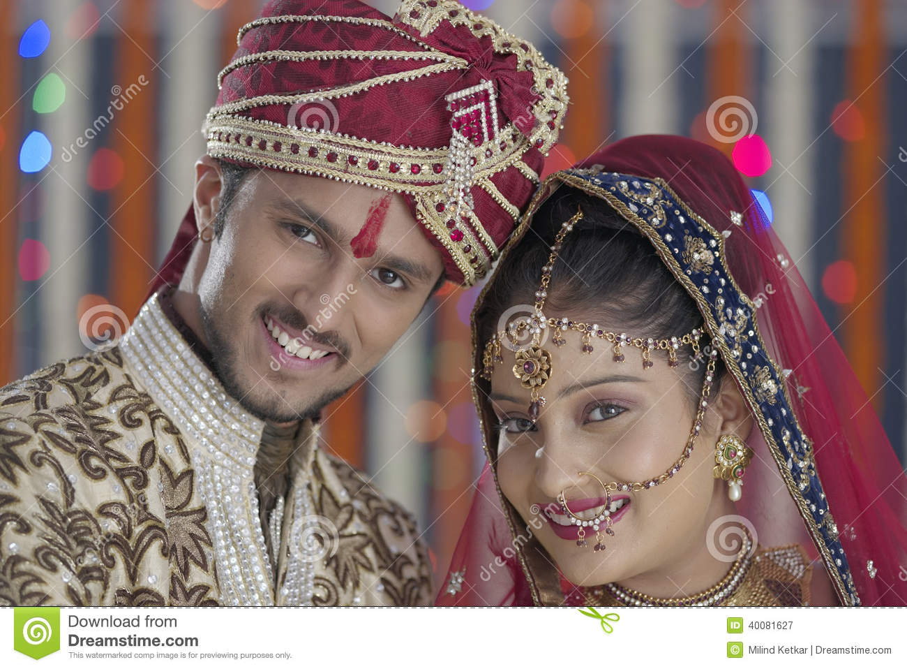 Indian Hindu Bride Amp Groom A Happy Smiling Couple Stock