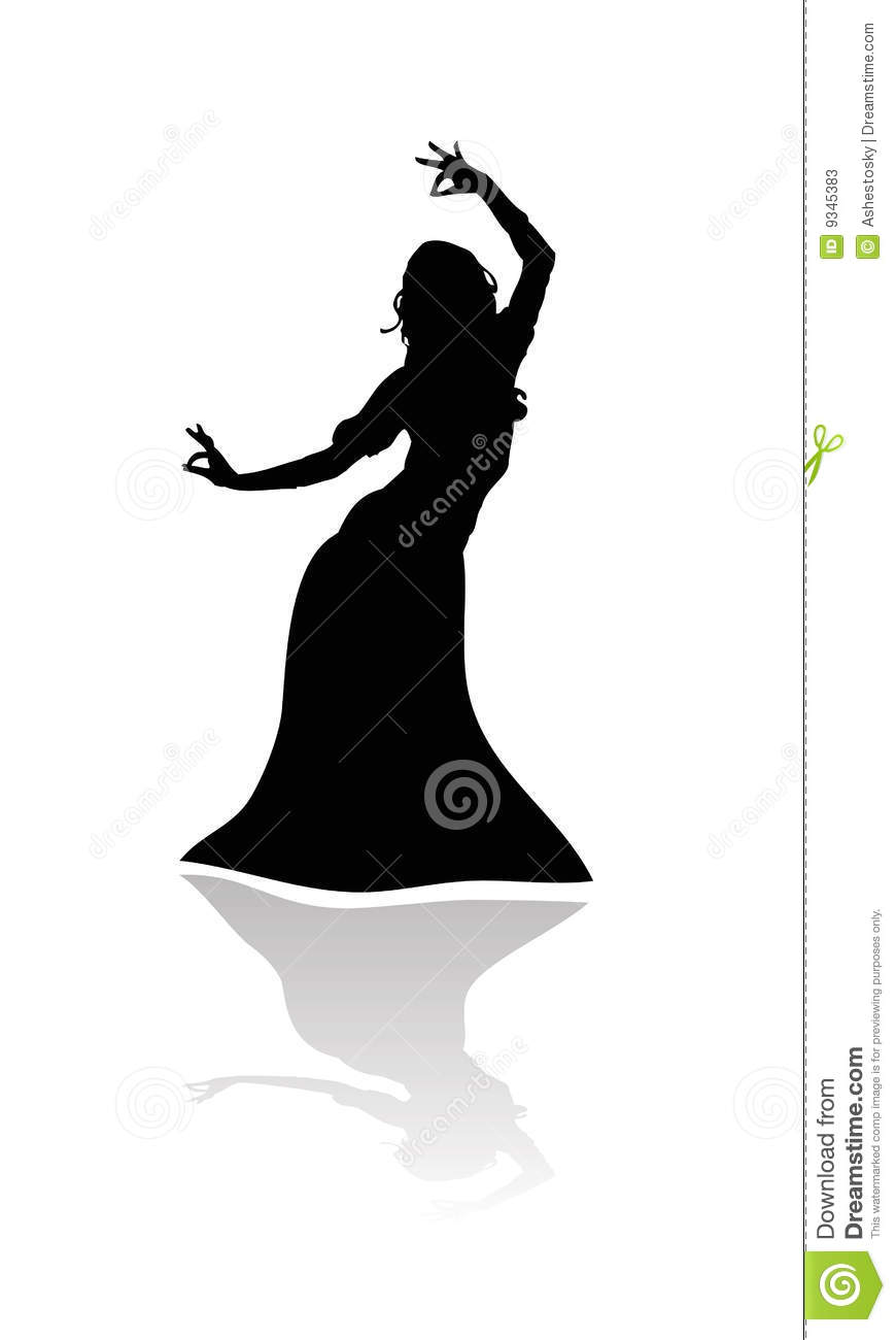 Indian Hindu Dancing Woman Stock Photos - Image: 9345383