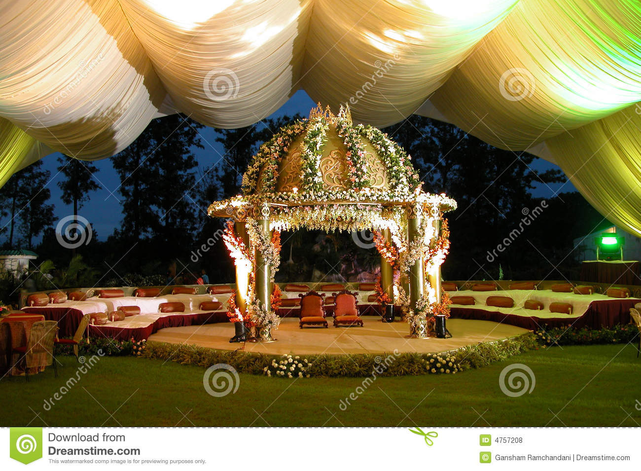 Indian Hindu wedding stage for weddings & other celebrations
