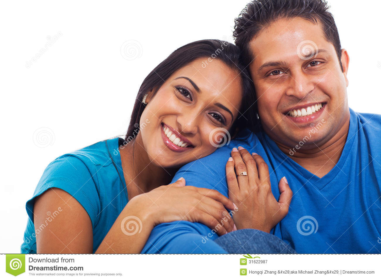 Indian Husband Wife Stock Image Image Of Isolated Cute 31622987