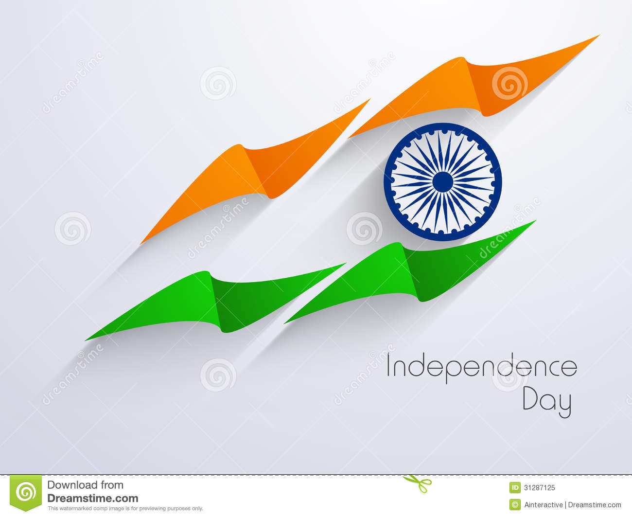 Indian Independence Day Background With Creative National Flag D