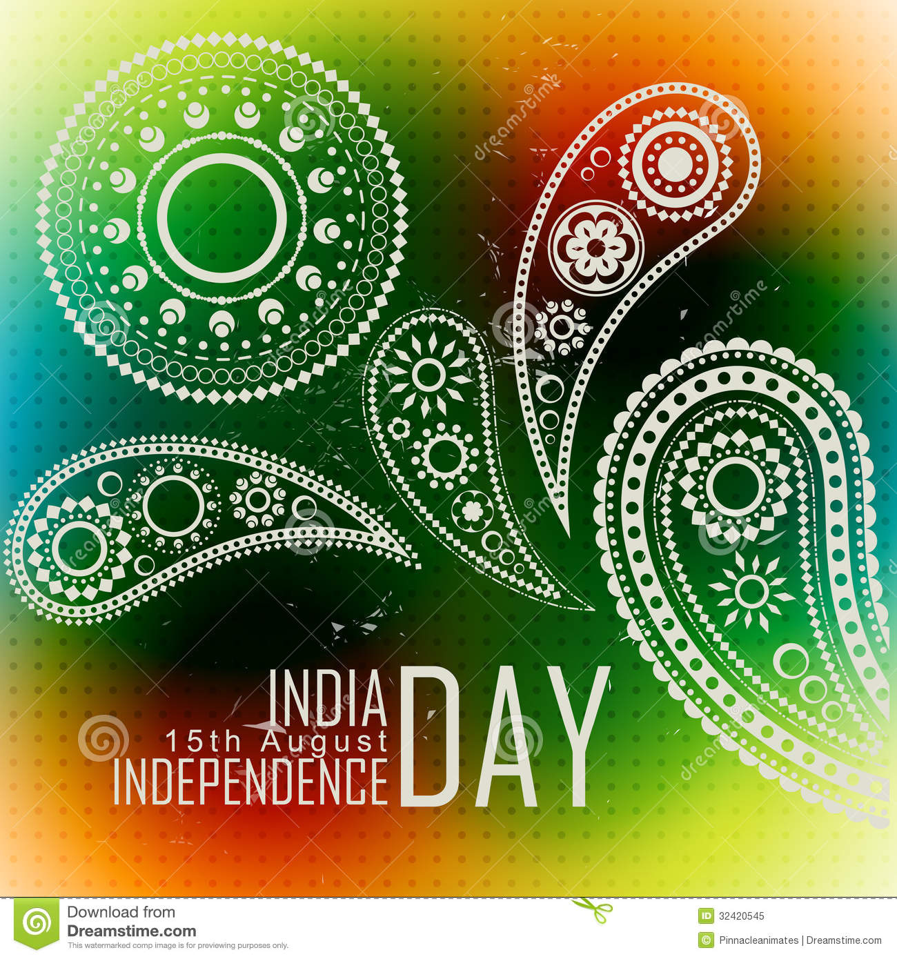 Indian Independence Day Stock Vector Illustration Of Beautiful