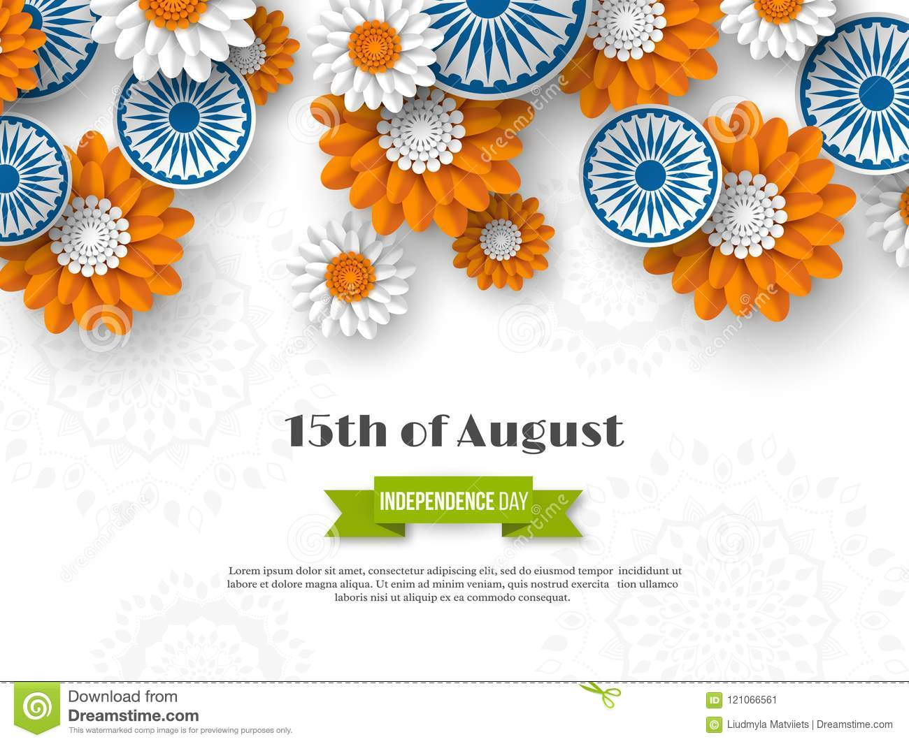 Indian independence day holiday design 3d wheels with flowers in download indian independence day holiday design 3d wheels with flowers in traditional tricolor of indian mightylinksfo