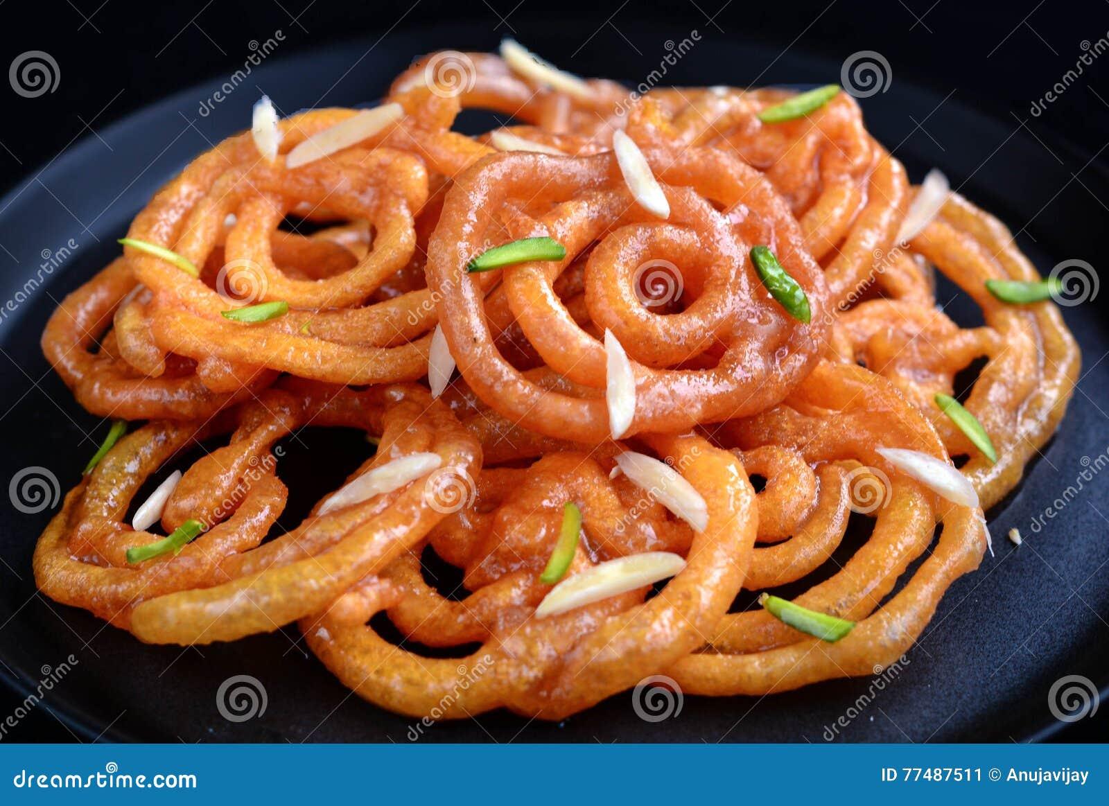Indian Jalebi in a plate