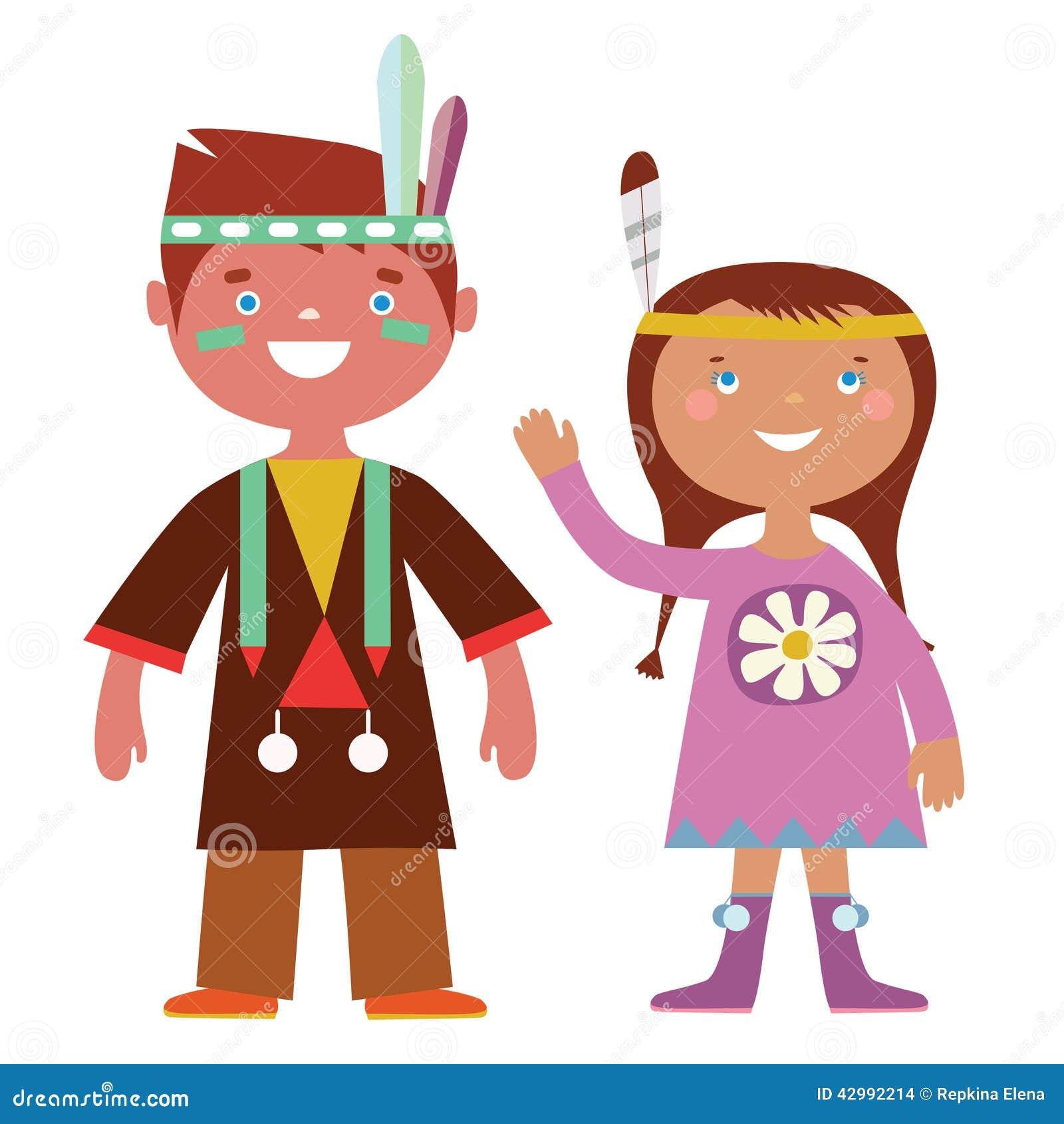 Indian kids stock vector  Illustration of childish, couple - 42992214