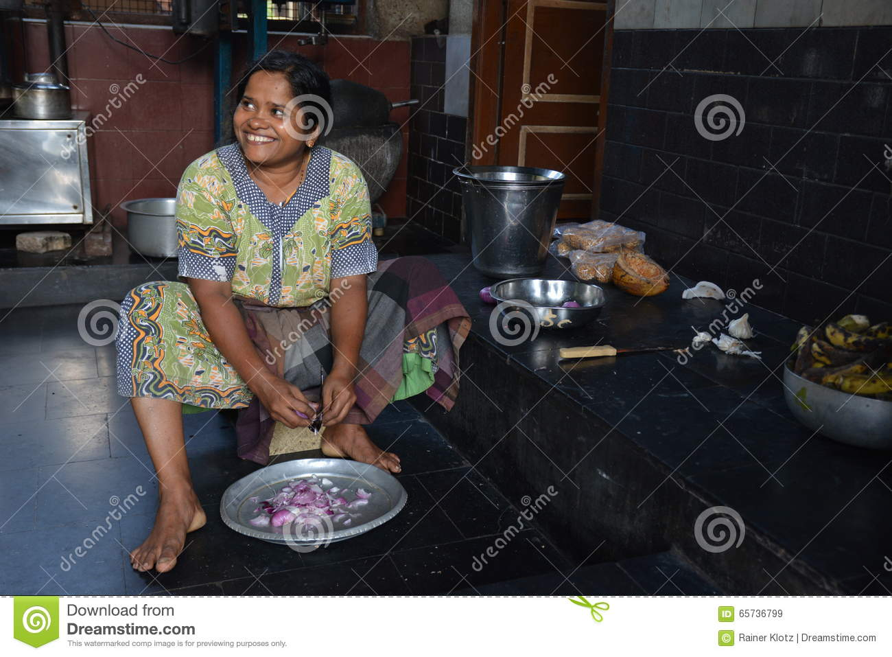 Indian kitchen editorial stock image image 65736799 for Traditional indian kitchen pictures