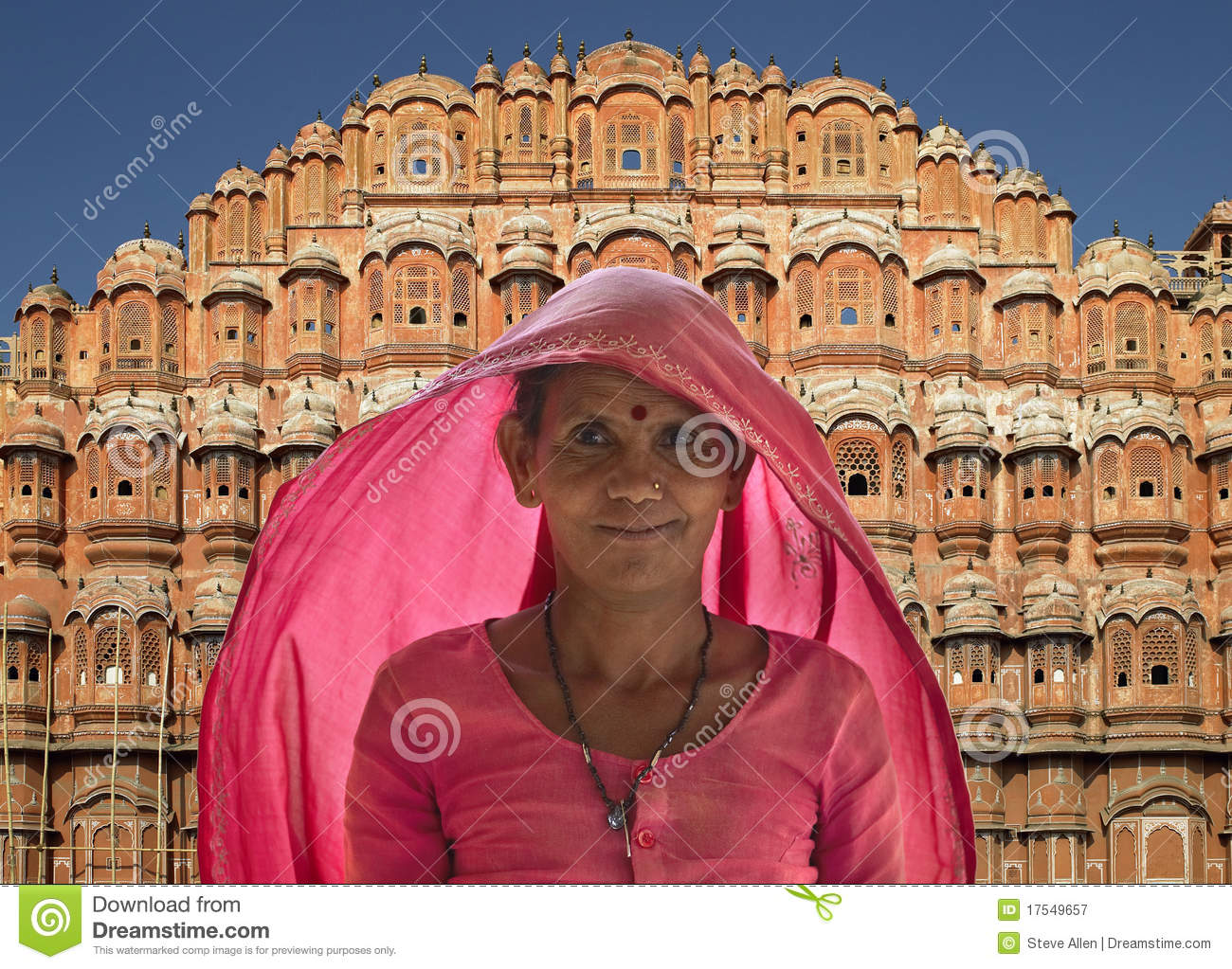 Indian lady - Palace of the Winds - Jaipur - India