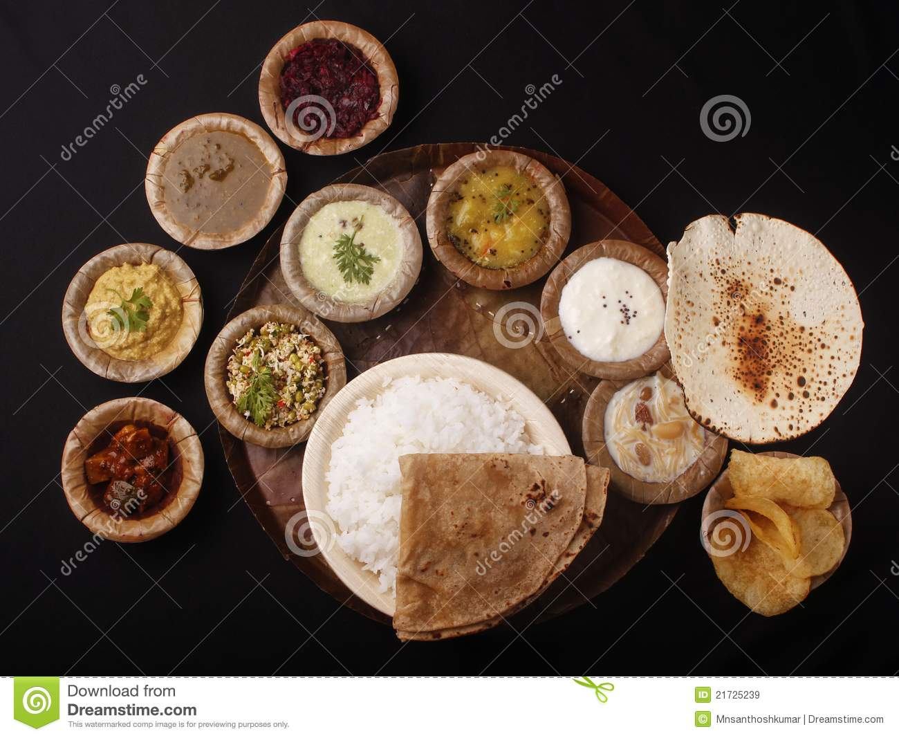 Indian Lunch Or Meals Stock Image Image Of Fats Dhal 21725239