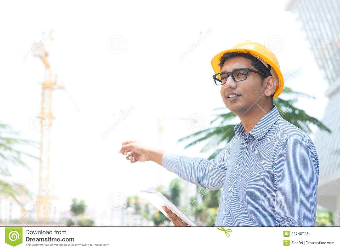 94c73bdba78 Indian Male Contractor Engineer Stock Image - Image of control