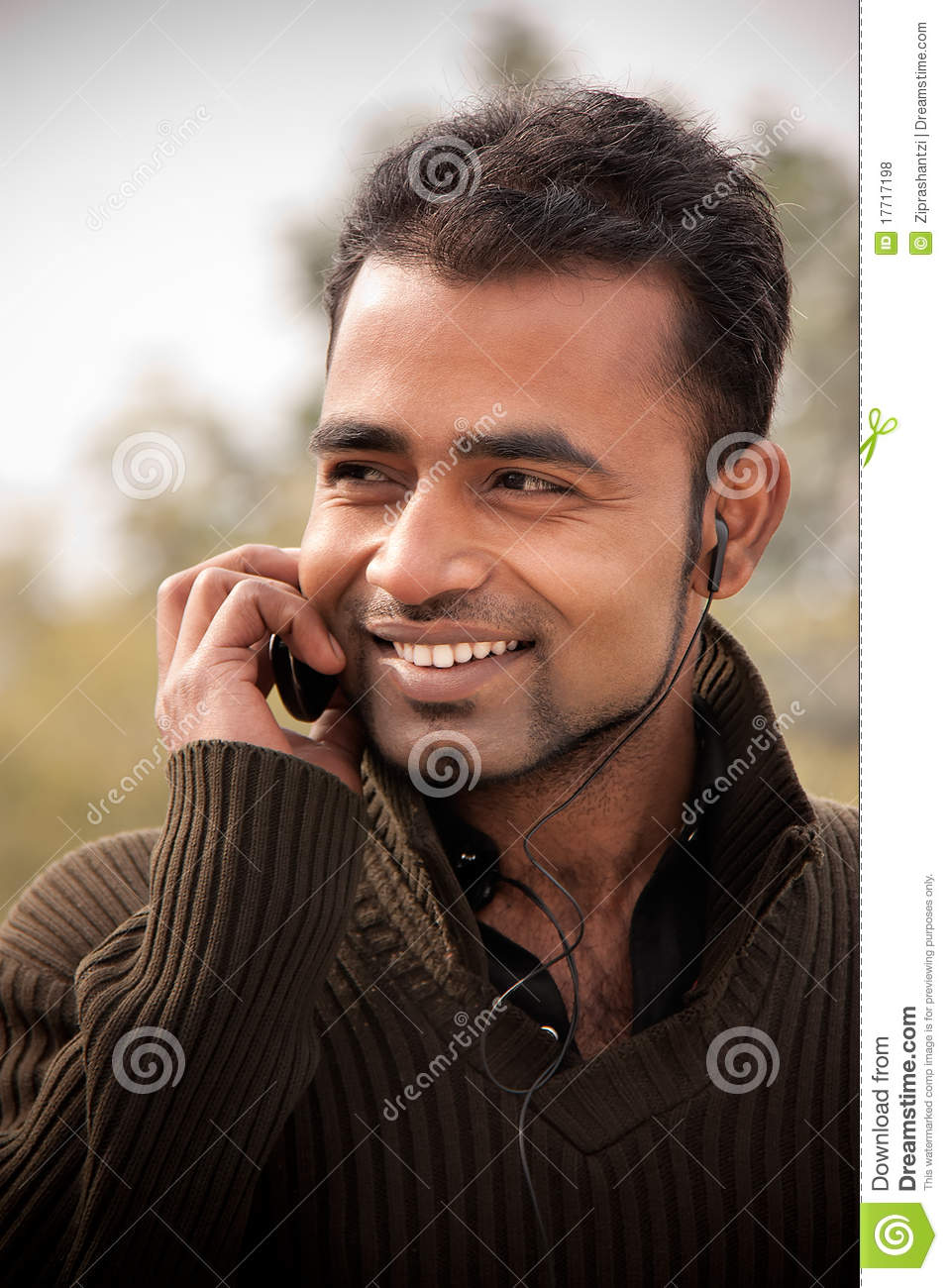 Indian Man Busy On Cell Phone Royalty Free Stock Photos ...
