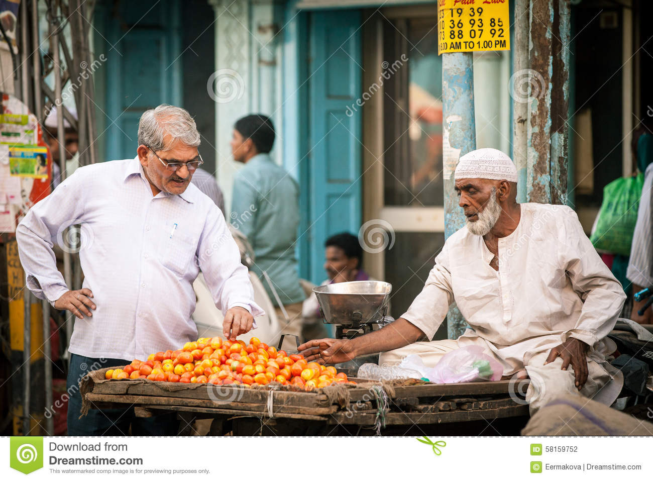 Street Life In Old Delhi, India Editorial Photo ...