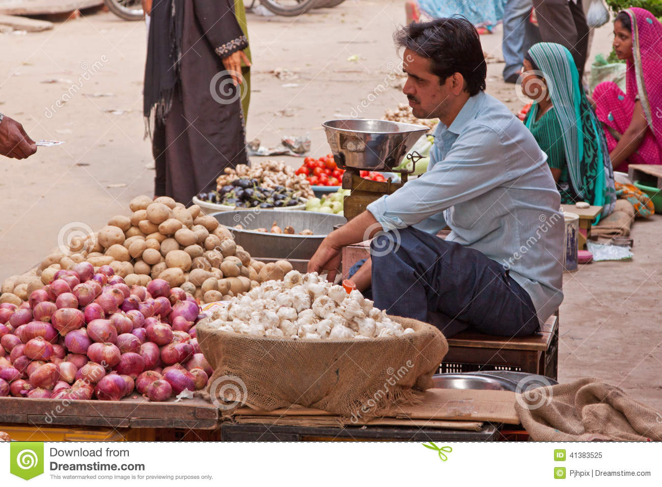 Indian Market Traders editorial image  Image of exchange - 41383525