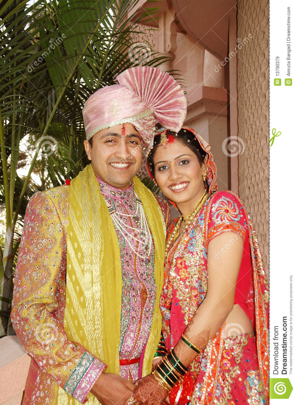Indian Married Couple Stock Image Of Expression