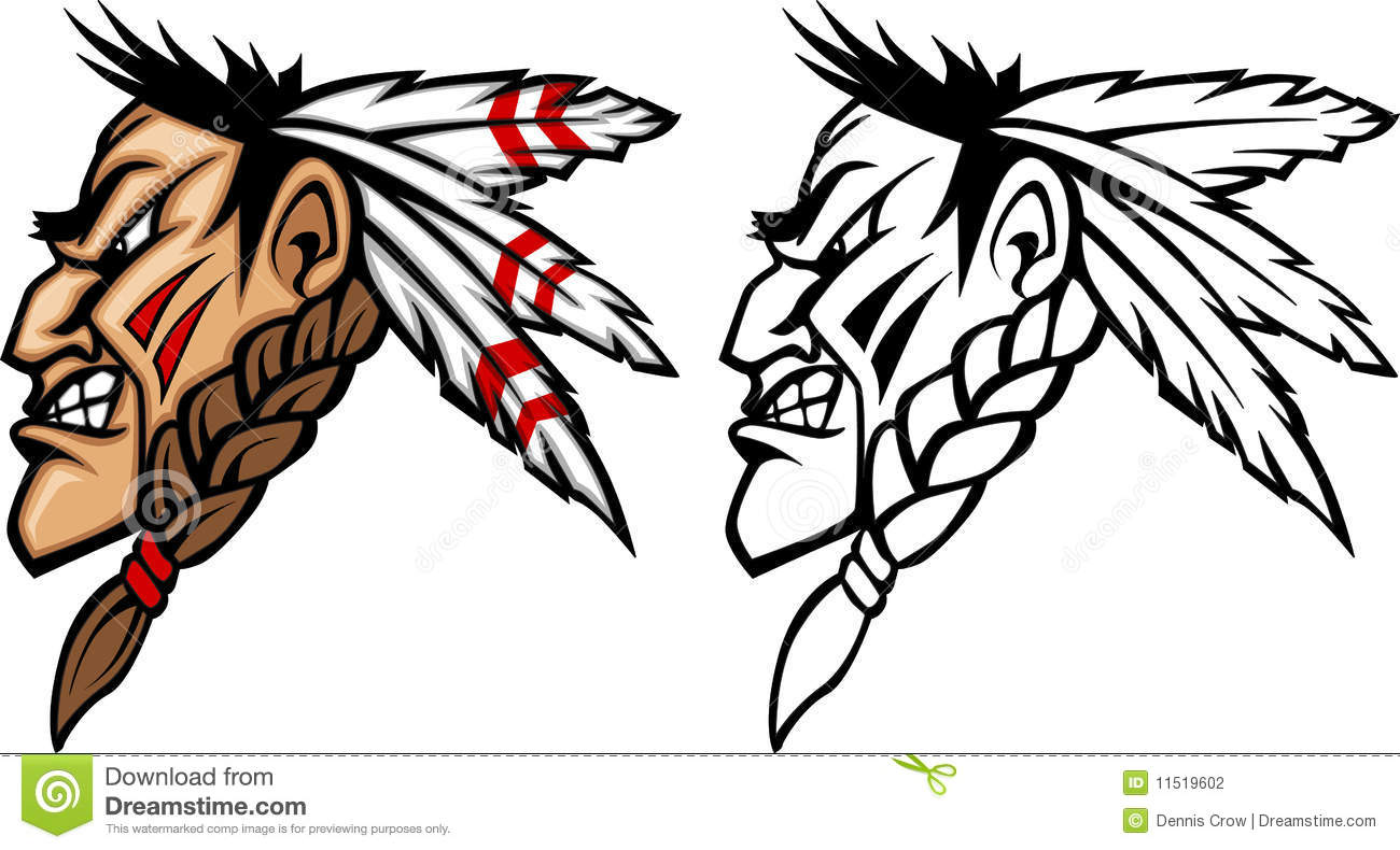 indian mascot vector logo stock vector illustration of warrior rh dreamstime com vector logo design vector logo free